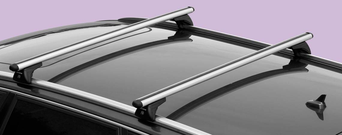 In-Rail Alu, aluminium roof bars, 2 pcs