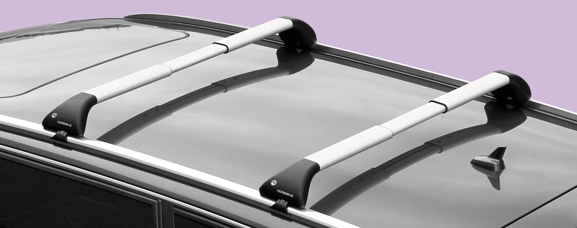 Snap Alu, pair of telescopic aluminium roof bars