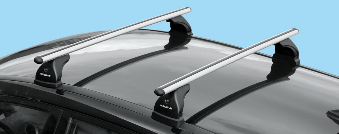 NORDRIVE N15027 Pair of Aluminium Roof Bars