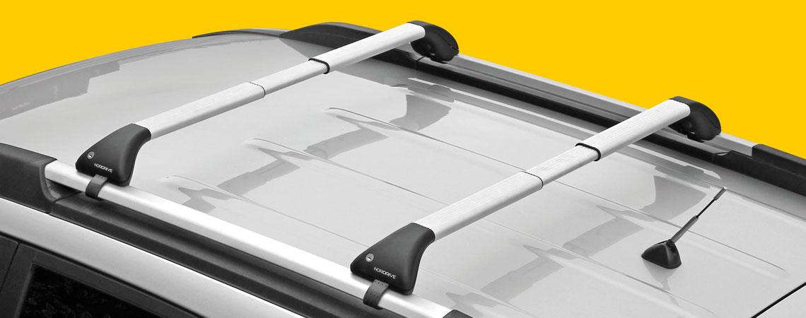 Snap-Fit Alu, telescopic aluminium roof bars, 2 pcs